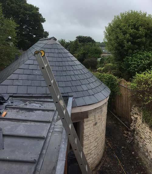 Slate Roof Bath, that features bespoke lead aprons, saddles and flashings