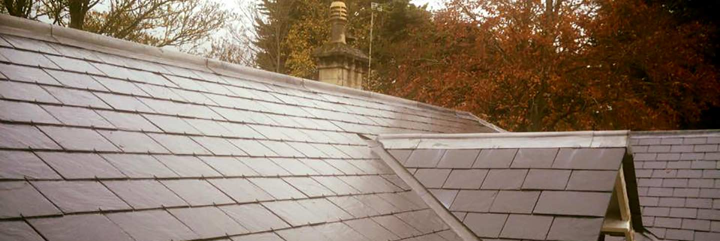 Tiles roof built by SC Roofing Bath, pitch.