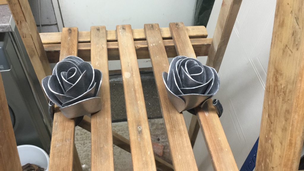 lead roses I made for my wedding