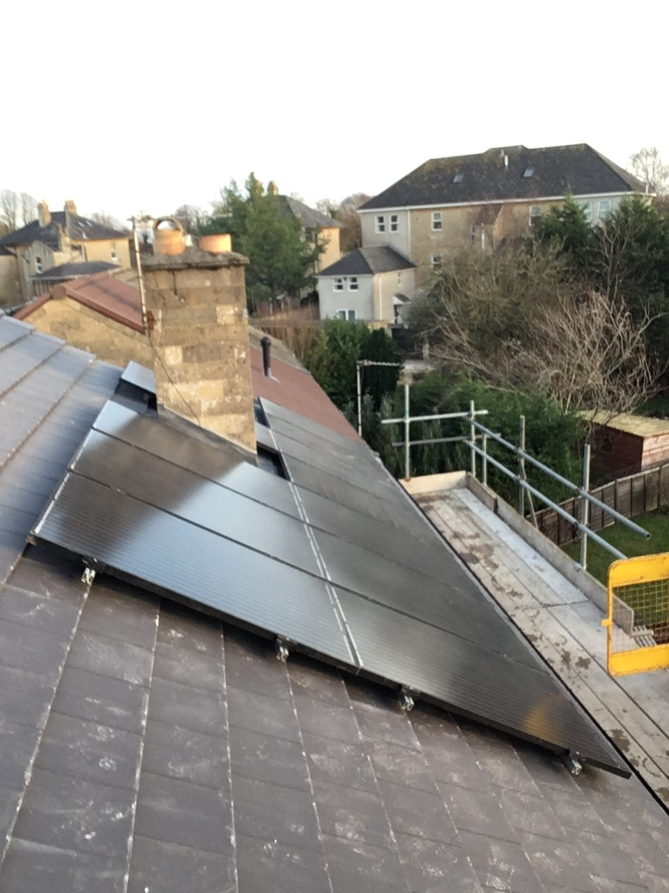 New roof with Marley Modern tiles before fitting new solar Modules