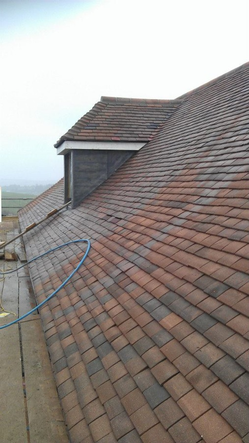 Mixed clay plain tiles Lambourn