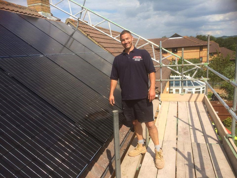 I look pleased to have finished this job in Bristol